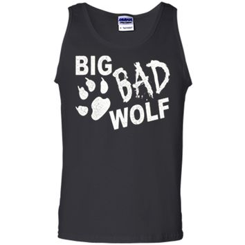 Big Bad Wolf Paw Distressed White Funny Novelty Tank Top