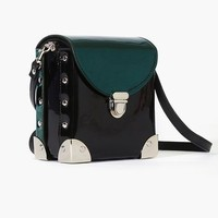 Later Satchel - Metallic Green