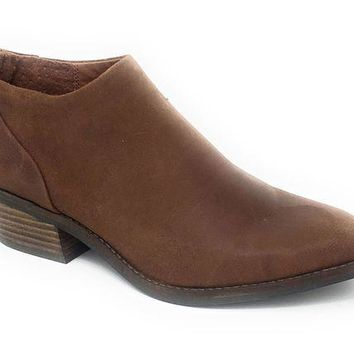 MDIGYW3 Lucky Brand Fai Toffee Antik Grease Leather Booties