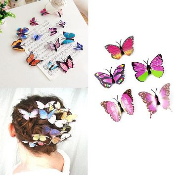 5Pcs Butterfly Flower Wedding Hair Clip Hair Claw Clamp Party Bridal Hair Pins