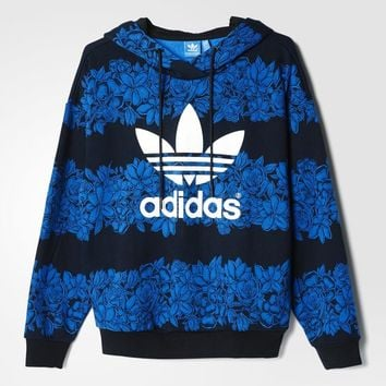 adidas Blue Floral Hoodie - Multicolour | adidas UK