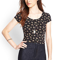 FOREVER 21 Ditsy Floral Crop Top