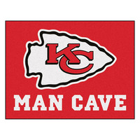 Kansas City Chiefs NFL Man Cave All-Star Floor Mat (34in x 45in)