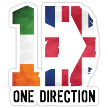 One DIrection - Irish & British Flag - with Logo T-Shirts & Hoodies