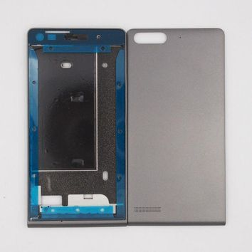 Zuczug New Front Frame Lcd Screen Frame Back Door Battery Cover Housing Case For Huawei Ascend G6 With 3m Adhesive
