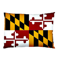 """Custom Maryland State Flag Pillow Case 30"""" x 20"""" US State Flag"""