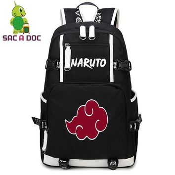 Naruto Sasauke ninja Anime  Akatsuki Itachi Cosplay Backpack for Teenagers Students School Book Bag Women Men Daily Backpack Laptop Backpack AT_81_8