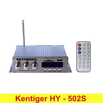 Kentiger HY-502S 2CH Bluetooth Hi-Fi Super Bass Output Power Amplifier With Remote Controller Bluetooth Surpport FM SD Card