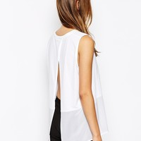Whistles Vest with Silk Overlay