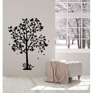Vinyl Wall Decal Tree Garden Leaves Floral Nature Home Decor Stickers Mural (g927)