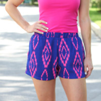 Touch Of Aztec Shorts - Blue