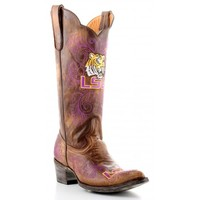 "Gameday Boots 13"" Tall Leather Louisiana State Cowboy Boots"