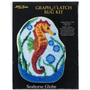 "Seahorse Globe Shaped Latch Hook Kit 20""X27"""