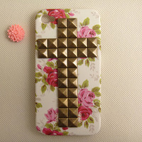 Studded floral iPhone 4 case iPhone 4 case iPhone 4s by ShinyGift