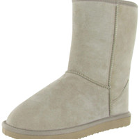 "Lamo 9"" Womens Faux Snow Sheepskin Shearling Boots Suede"