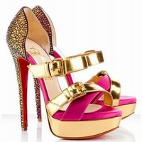 Christian Louboutin Ambertina 150 Bejeweled Sandals - $165