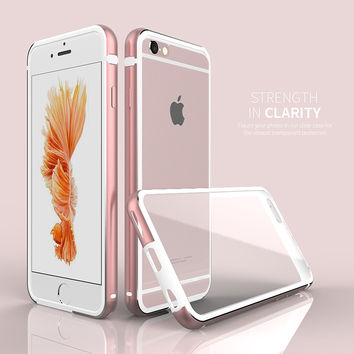 Luxury Clear PC + Metal Case  Protective Cover