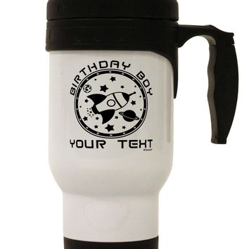 Personalized Birthday Boy Space with Customizable Name Stainless Steel 14oz Travel Mug