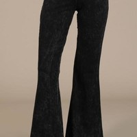 Chatoyant Fall Colors Mineral Wash Bell Bottoms