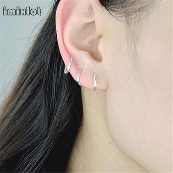 Imixlot 2017 Limited Piercing Nombril Body Jewelry Nose Hoop Ring Piercing Rook Helix Lip Ear Eyebrow Cartilage Earrings 6pcs