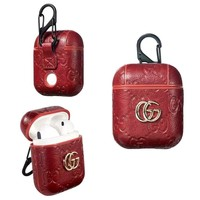 GUCCI AIRPODS CASE -RED