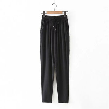 Summer Women's Fashion With Pocket Pants [4920281988]