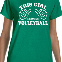 This Girls Loves Volleyball Women's T-Shirt