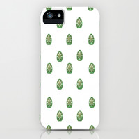 Green Easter Eggs Wall Art Decor iPhone & iPod Case by Lucine
