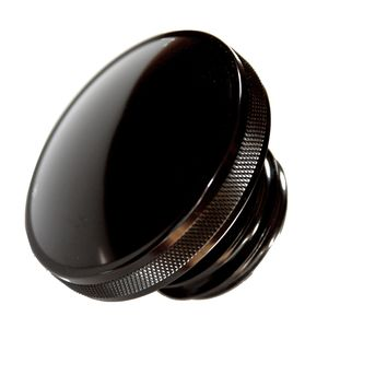 Black Harley Gas Cap Domed 1983-2012 RH