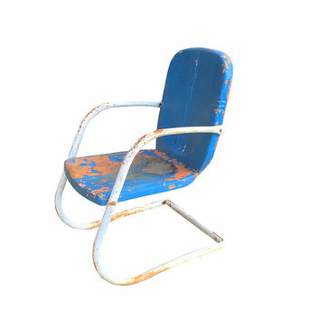 1950s Motel Chair, Vintage Patio Outdoor Lawn Seating, Retro Backyard Decor