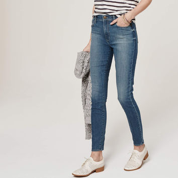Petite Modern High Waist Skinny Ankle Jeans in Palette Blue Wash
