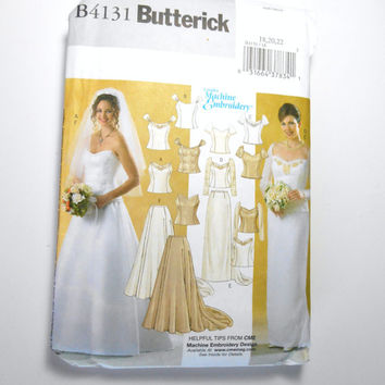 Butterick 4131, Wedding Dress Pattern, Gown Pattern, Formal Dress Pattern, Bridesmaid Pattern, Prom Dress Pattern, Size 18, 20, 22, Uncut
