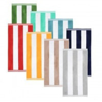 Superior 100% Cotton Cabana Stripes Oversized Beach Towel