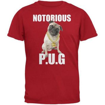 CREYCY8 Notorious PUG Red Adult T-Shirt