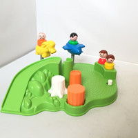 Vintage, Fisher Price, Little People, Playground Set - 2525 - includes 4 people