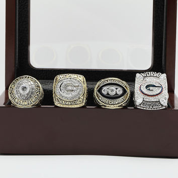 Green Bay Packers Super Bowl Football Championship Replica Ring 4 Years Set