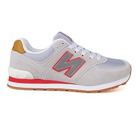 NEW BALANCE Fashion Casual Women Men Casual Running Sport Shoes Sneakers Beige