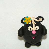 CHUBBY SKUNK  Polymer Clay Animal  Made to Order by KatersAcres