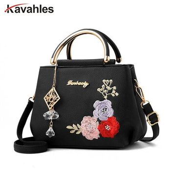 2018 color flowers shell Women's tote Leather Clutch Bag Sac A Main Femme Ladies Handbags Brand Women Messenger Bags LW-6