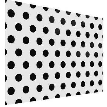 Black Polka Dots on White Gloss Poster Print Landscape - Choose Size by TooLoud