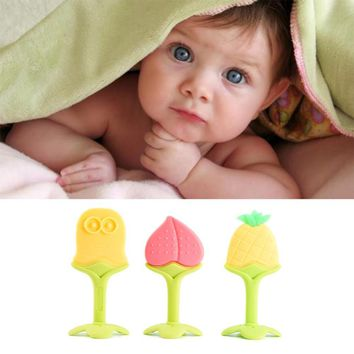 Silicone Fruit Shape Baby Dental Care Tooth Training Tither