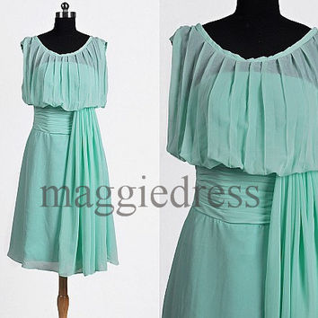 Custom Mint Short Prom Dresses Bridesmaid Dresses 2014 Party Dresses Evening Dresses Wedding Party Dress Homecoming Dresses Evening Dresses
