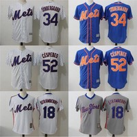 Mets Jerseys Cheap Mens 34 Noah Syndergaard 52 Yoenis Cespedes 18 Darryl Strawberry New York Mets Cool Base Baseball Jerseys