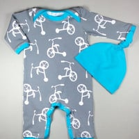 Baby boy hospital outfit, organic baby clothes, baby overall, baby boy take home outfit, baby boy coming home outfit