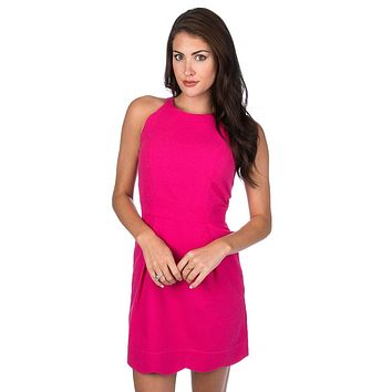 Landry Solid Seersucker Dress in Raspberry by Lauren James