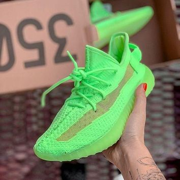 Adidas Yeezy Boost 350 V2 Fashion Women Men Running Casual Shoes Green