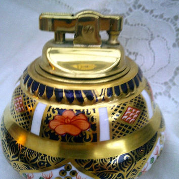 Royal Crown Derby Imari Gold Table Lighter