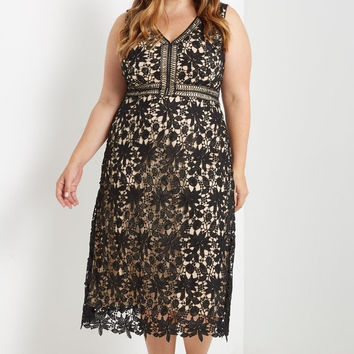 Modesto A-line Midi Dress Plus Size