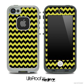 V4 Chevron Pattern Black and Gold Skin for the iPhone 5 or 4/4s LifeProof Case