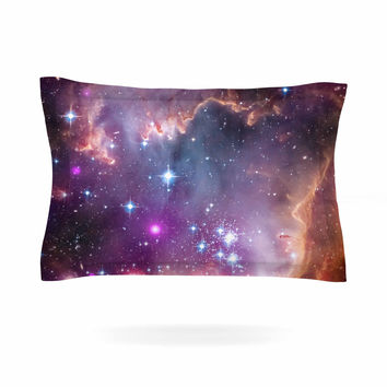 "Suzanne Carter ""Cosmic Cloud"" Celestial Purple Pillow Sham"